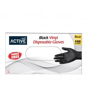 Vinyl Gloves Black Small (100 PCS)