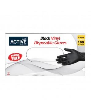 Vinyl Gloves Black large (100 PCS)