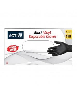 Vinyl Gloves Black X large (100 PCS)
