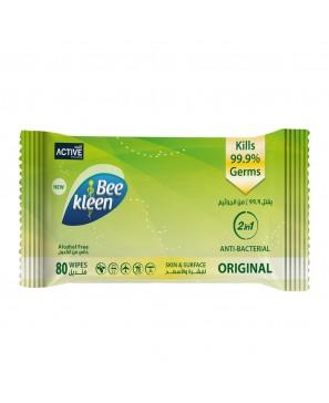 BeeKleen Antibacterial Original Wipes 80PCS
