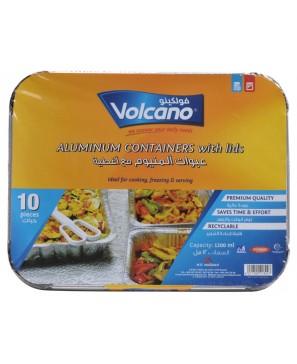 Volcano Aluminium containers with Lids 1200 ml