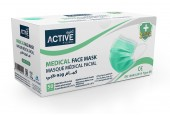 Active Medical Face Mask Green 3Ply (50Pcs)